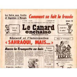 Canard Enchaîné (le) - n° 2975 - 2 novembre 1977 - Foire aux fruits et légumes de Rungis