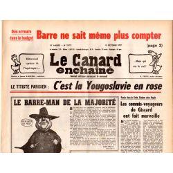 Canard Enchaîné (le) - n° 2972 - 12 octobre 1977 - Titiste parisien : c'est la Yougoslavie en rose
