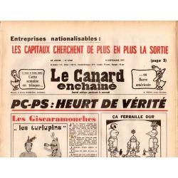 Canard Enchaîné (le) - n° 2968 - 14 septembre 1977 - PC-PS : Heurt de vérité