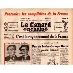 Canard Enchaîné (le) - n° 2965 - 24 aout 1977 - Pretoria : les complicités de la France
