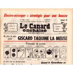 Canard Enchaîné (le) - n° 2964 - 17 aout 1977 - Giscard taquine la Meuse