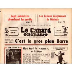Canard Enchaîné (le) - n° 2961 - 27 juillet 1977 - C'est le gros plan Barre