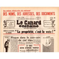 Canard Enchaîné (le) - n° 2960 - 20 juillet 1977 - Giscard et sa politique de Logement