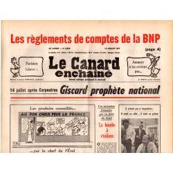 Canard Enchaîné (le) - n° 2959 - 13 juillet 1977 - Les règlements de comptes de la BNP