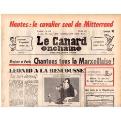 Canard Enchaîné (le) - n° 2956 - 22 juin 1977 - Brejnev à Paris : chantons tous la Marxeillaise !