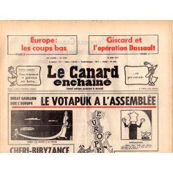 Canard Enchaîné (le) - n° 2955 - 15 juin 1977 - Débat sur l'Europe : le Votapük à l'assemblée