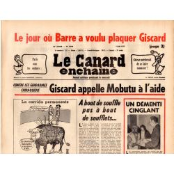 Canard Enchaîné (le) - n° 2949 - 4 mai 1977 - Le jour ou Barre a voulu plaquer Giscard