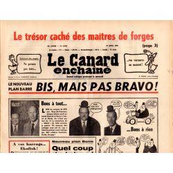 Canard Enchaîné (le) - n° 2948 - 27 avril 1977 - Plan Barre : Bis, mais pas bravo !