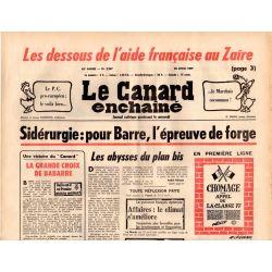 Canard Enchaîné (le) - n° 2947 - 20 avril 1977 - Sidérurgie : pour Barre, l'épreuve de forge