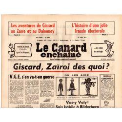 Canard Enchaîné (le) - n° 2946 - 13 avril 1977 - Giscard, Zaïroi des quoi ?
