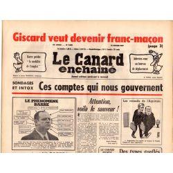 Canard Enchaîné (le) - n° 2938 - 16 février 1977 - Sondages et intox : ces comptes qui nous gouvernent