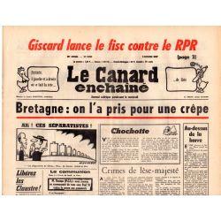 Canard Enchaîné (le) - n° 2937 - 9 février 1977 - Bretagne : on l'a pris pour une crêpe