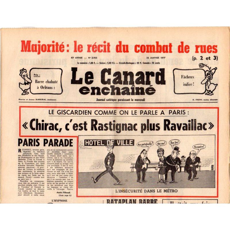 Image result for Chirac, c'est Rastignac plus Ravaillac le Canard enchainé