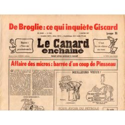 Canard Enchaîné (le) - n° 2932 - 5 janvier 1977 - Affaire des micros : barrée d'un coup de Pinsseau