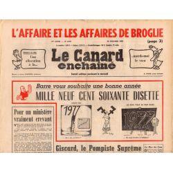 Canard Enchaîné (le) - n° 2931 - 29 décembre 1976 - L'affaire des affaires De Broglie