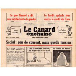 Canard Enchaîné (le) - n° 2929 - 15 décembre 1976 - Social : peu de courant, mais quelle tension !