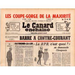 Canard Enchaîné (le) - n° 2928 - 8 décembre 1976 - EDF : Barre à contre-courant