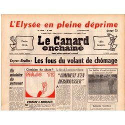 Canard Enchaîné (le) - n° 2926 - 24 novembre 1976 - L'Élysée en pleine déprime