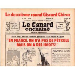 """Canard Enchaîné (le) - n° 2925 - 17 novembre 1976 - """"En France, on n'a pas de pétrole mais on a des idiots !"""""""