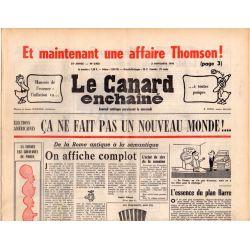 Canard Enchaîné (le) - n° 2923 - 3 novembre 1976 - Et maintenant une affaire Thomson !
