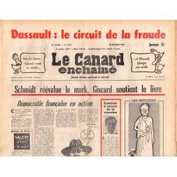 Canard Enchaîné (le) - n° 2921 - 20 octobre 1976 - Dassault : le circuit de la fraude
