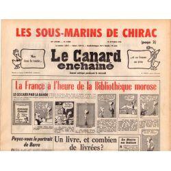 Canard Enchaîné (le) - n° 2920 - 13 octobre 1976 - La France à l'heure de la Bibliothèque morose
