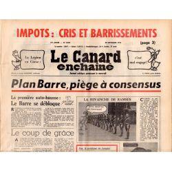 Canard Enchaîné (le) - n° 2918 - 29 septembre 1976 - Plan Barre, piège à consensus