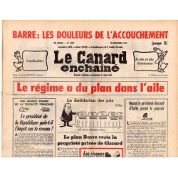 Canard Enchaîné (le) - n° 2917 - 22 septembre 1976 - Le régime a du plan dans l'aile