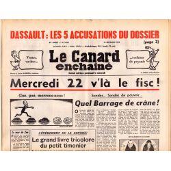 Canard Enchaîné (le) - n° 2916 - 15 septembre 1976 - Dassault : les 5 accusations du dossier