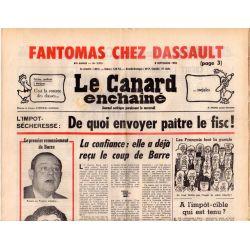 Canard Enchaîné (le) - n° 2915 - 8 septembre 1976 - Fantomas chez Dassault