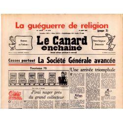 Canard Enchaîné (le) - n° 2912 - 18 aout 1976 - La guéguerre de religion