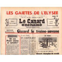 Canard Enchaîné (le) - n° 2910 - 4 aout 1976 - Safari : Giscard le traîne savane