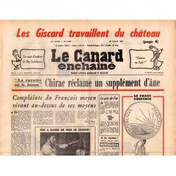 Canard Enchaîné (le) - n° 2909 - 28 juillet 1976 - Chirac réclame un supplément d'âne