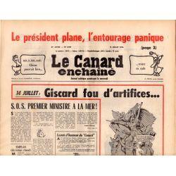 Canard Enchaîné (le) - n° 2907 - 14 juillet 1976 - 14 juillet : Giscard fou d'artifices...