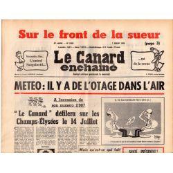 Canard Enchaîné (le) - n° 2906 - 7 juillet 1976 - Météo : il y a de l'otage dans l'air