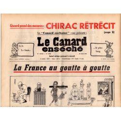 Canard Enchaîné (le) - n° 2905 - 30 juin 1976 - Le Canard enséché - La France au goutte à goutte
