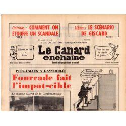 Canard Enchaîné (le) - n° 2901 - 2 juin 1976 - Plus-values : Fourcade fait l'impôt-cible