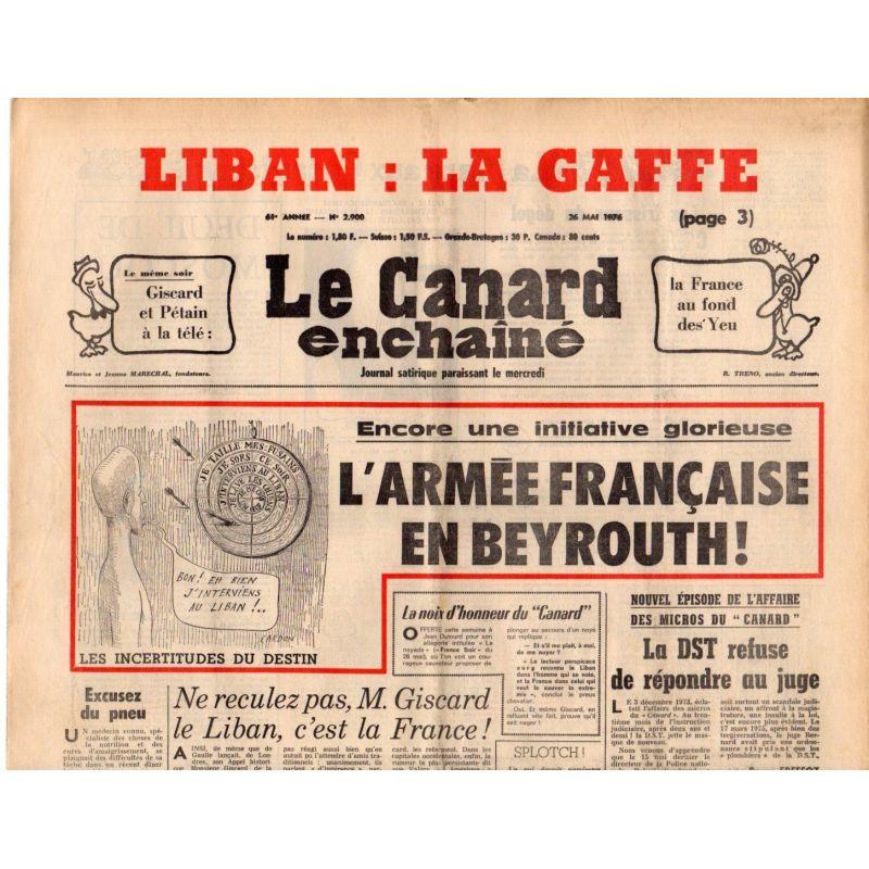 Canard Enchaîné (le) - n° 2900 - 26 mai 1976 - L'Armée Française en Beyrouth !
