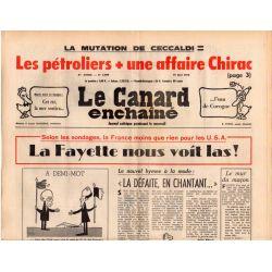 Canard Enchaîné (le) - n° 2899 - 19 mai 1976 - La Fayette nous voit là !