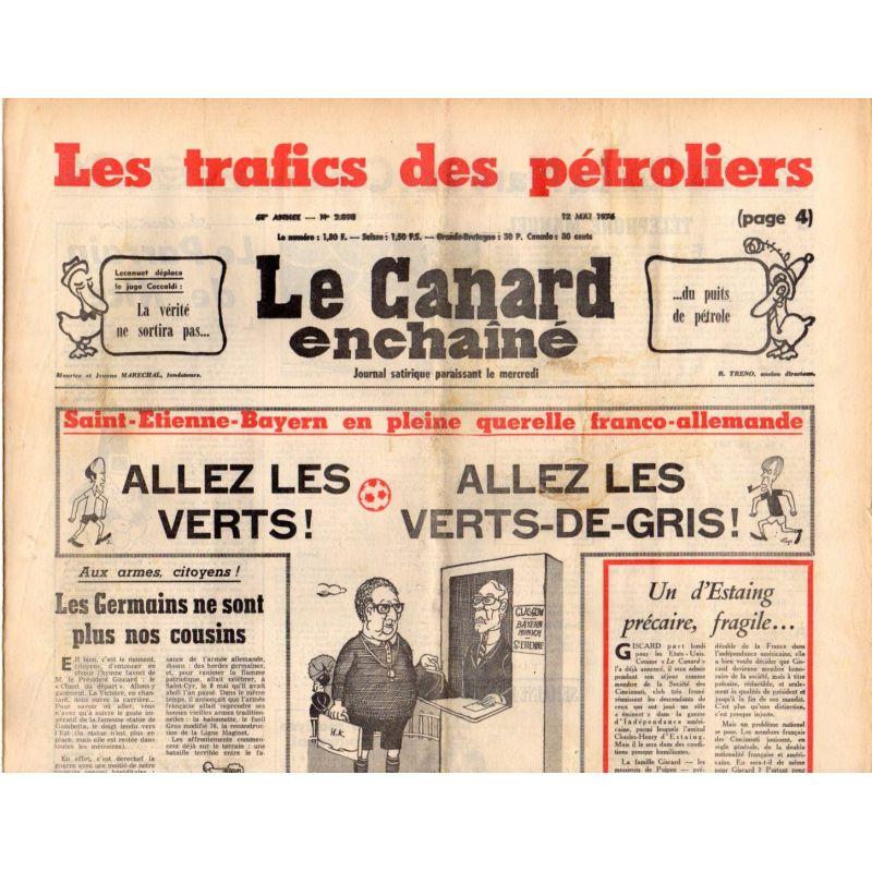 Canard Enchaîné (le) - n° 2898 - 12 mai 1976 - Les trafics des pétroliers