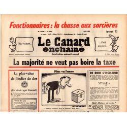 Canard Enchaîné (le) - n° 2897 - 5 mai 1976 - La majorité ne veut pas boire la taxe