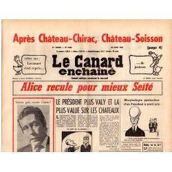 Canard Enchaîné (le) - n° 2896 - 28 avril 1976 - Alice recule pour mieux Seïté