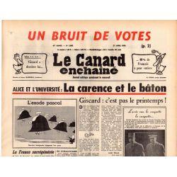 Canard Enchaîné (le) - n° 2895 - 21 avril 1976 - Alice et l'université : La carence et le bâton