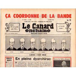 Canard Enchaîné (le) - n° 2894 - 14 avril 1976 - L'État c'est mué : En pleine dyarchirac