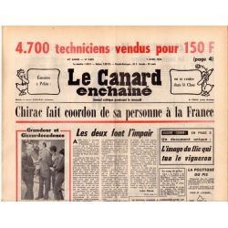 Canard Enchaîné (le) - n° 2893 - 7 avril 1976 - Chirac fait coordon de sa personne à la France