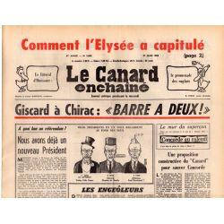 Canard Enchaîné (le) - n° 2892 - 31 mars 1976 - Comment l'Élysée a capitulé