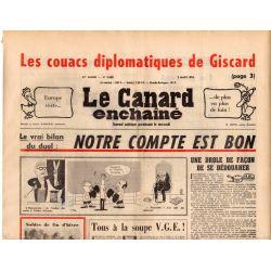 Canard Enchaîné (le) - n° 2888 - 3 mars 1976 - Les couacs diplomatiques de Giscard
