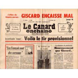 """Canard Enchaîné (le) - n° 2883 - 28 janvier 1976 - Le contribuable """"braqué"""" : Voilà le tir provisionnel"""