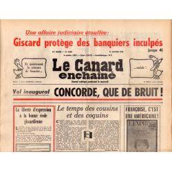 Canard Enchaîné (le) - n° 2882 - 21 janvier 1976 - Vol inaugural : Concorde, que de bruit !