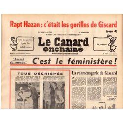 Canard Enchaîné (le) - n° 2881 - 14 janvier 1976 - Rapt Hazan ; c'était les gorilles de Giscard